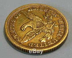 1848-D $5 Gold Liberty Half Eagle Coin, Dahlonega Mint, Mintage of only 47,465