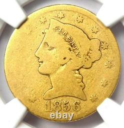 1856-S Liberty Gold Half Eagle $5 NGC AG3 Rare Date S Mint Gold Coin