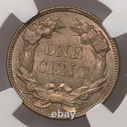1857 Flying Eagle 1C NGC Certified MS65 Mint State Graded Copper Small Cent Coin