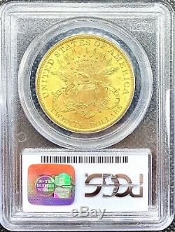 1899 $20 American Gold Double Eagle Liberty Head MS62 PCGS MINT Rare Date Coin