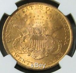 1900 Gold $20 Liberty Head Double Eagle Coin Ngc Mint State 63