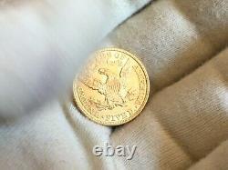 1901 P. $5 Liberty Half Eagle Gold Five Dollar Coin 615,900 MINTED. UNC LOT # 2