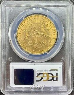 1907 $20 American Gold Double Eagle MS62 PCGS Liberty Head Brilliant MINT Coin