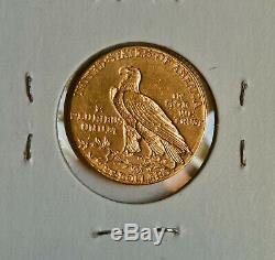 1909-D $5 Gold Indian Half Eagle Choice BU Coin US Mint Uncirculated