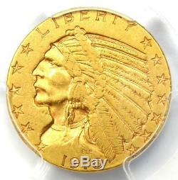 1910-S Indian Gold Half Eagle $5 Coin Certified PCGS XF40 Rare S Mint