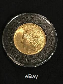 1911 $10 Gold Indian Eagle Pre-1933 Gold Coin Philadelphia Mint BEAUTIFUL COIN