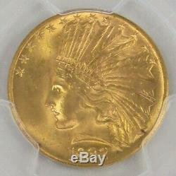 1932 Gold $10 Indian Head Eagle Coin Pcgs Mint State 64 Pq