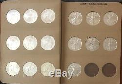 1986 2019 American Eagle Silver Dollar Complete Set Gem Mint Coins