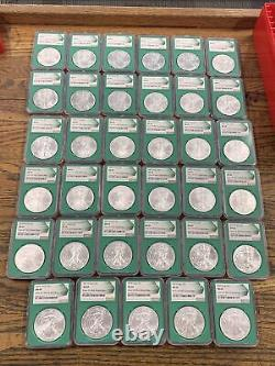 1986-2020 (35) Coin Silver Eagle Set Green Core MS69 (US Mint Sealed Box) 1996