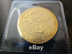 1986 Beautiful uncirculated 1 oz Gold American Eagle, mint fresh from storage