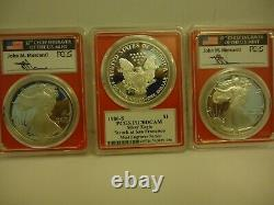 1986-S Mercanti MINT ENGRAVER Silver Eagle PCGS PR70 DCAM (First Year Of Issue)