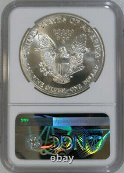 1986-S Silver Eagle NGC MS69 / First Year of Issue / Minted in San Francisco