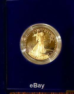 1986 US Mint $50 First Mintage 1oz Gold Eagle Proof Coin Orig. Case, Paper, Box