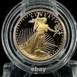 1988 P $5 Gold American Eagle Proof 1/10 OZ Collector Case Box COA US Mint