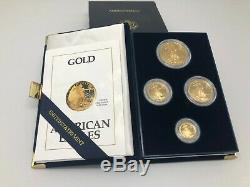 1991 US Mint American Eagle Gold Bullion Coins Proof Set