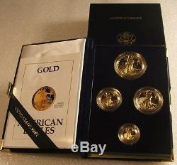 1991-w U. S. Mint $50-25-10-5 Gold Proof American Eagle 4-coin Set Ogp