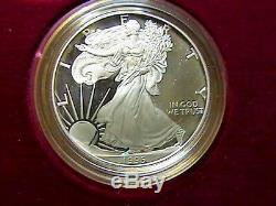 1995-W U. S. Mint 10th Anniversary Gold and Silver Eagle Proof Set Unc