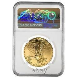 1998 1 oz $50 Gold American Eagle NGC MS 69 Mint Error (Rev Struck Thru)