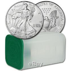 1998 American Silver Eagle (1 oz) $1 1 Roll Twenty 20 BU Coins in Mint Tube