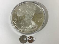 1998 Giant One Pound 16oz Troy Silver Eagle from Washington Mint. 99 (CJL037320)