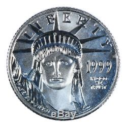 1999 1/10 oz American Platinum Eagle Mint State