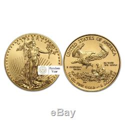 1/10 oz American Gold Eagle Mint State (Year Varies)