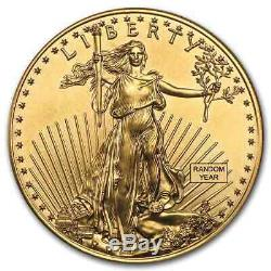 1 oz Gold American Eagle $50 Coin BU Random Year US Mint