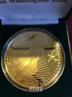 2000 Giant Quarter-Pound Eagle Proof Coin 4oz Troy. 999 Silver Washington Mint