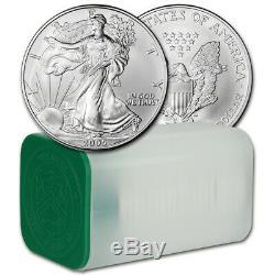 2005 American Silver Eagle (1 oz) $1 1 Roll Twenty 20 BU Coins in Mint Tube