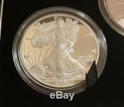 2006 American Eagle 20th Anniversary 1 oz. 999 Silver Coin Set U. S. Mint