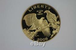 2008 W Bald Eagle $5 Proof Dollar Gold PF70 NGC US Mint Commemorative Coin
