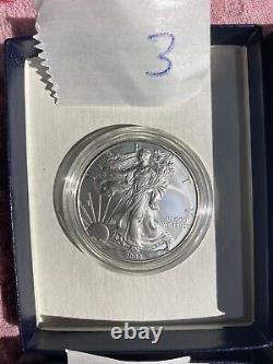2008 W Reverse of 2007 American Silver Eagle Original Mint Packaging UNC