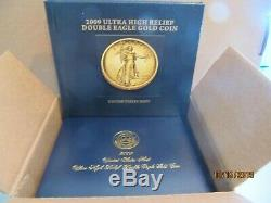 2009 Ultra High Relief Double Eagle Gold Coin With Complete Mint Packaging