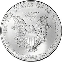 2010 American Silver Eagle (1 oz) $1 1 Roll Twenty 20 BU Coins in Mint Tube