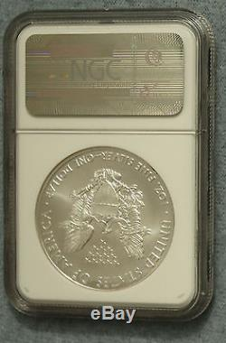 2010 American Silver Eagle NGC MS70 ER MINT SEALED BOX #1 VERY RARE (Lot28)