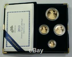 2010 US Mint American Gold Eagle Set Gem Proof Bullion Coins AGE Box & COA (JAB)