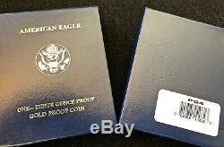 2010 W Gold Eagle PROOF U. S Mint 1/10 oz. ORIGINAL BOX & COA