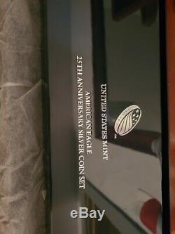 2011 25th Anniversary 5-Coin Set AMERICAN SILVER EAGLEwith U. S. Mint Box & COA