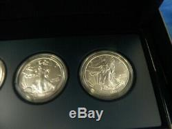 2011 25th Anniversary Silver American Eagle 5-Coin Set U. S. Mint COA