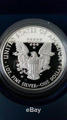 2011 25th Anniversary Silver American Eagle 5-Coin Set U. S. Mint OGP & COA