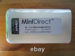 2011 American Silver Eagle 1 oz. Twenty 20 BU Coins in SEALED MINT-DIRECT TUBE