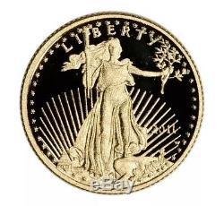 2011-W American Gold Eagle Proof 1/10 oz $5 United States Mint Packaging & COA
