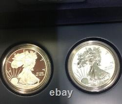 2012 U. S. Mint American Eagle San Francisco Two-coin Silver Proof Set