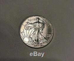 2013 1 oz Silver Eagle 20 Roll $1 BU Lot of Bullion Coins U. S. Mint Tube