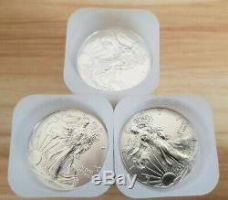 2013 American Silver Eagle x60 1 oz Coins 3 Rolls Lot