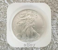 2013 Silver American Eagle. 999 1 Oz Bu Dollar Coins Roll Of 20 In Us Mint Tube