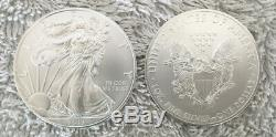 2013 Silver American Eagle. 999 1 Oz Bu Dollar Coins- Roll Of 20 In Us Mint Tube