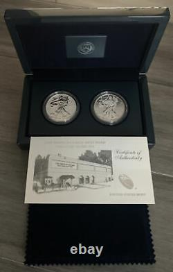 2013 US Mint American Eagle West Point 2 Coin Silver Set Reverse Proof/Enhanced