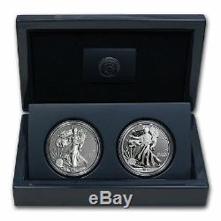 2013 US Mint American Eagle West Point Two-Coin Silver Set with Box & COA S40 MINT