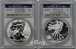 2013-W Silver Eagle Set Reverse PR 70 + MS 70 PCGS West Point Mint First Srike